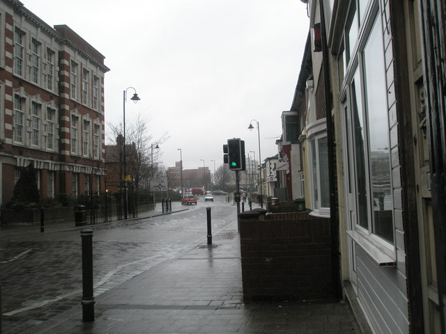 Looking north in Fawcett Road, Fratton