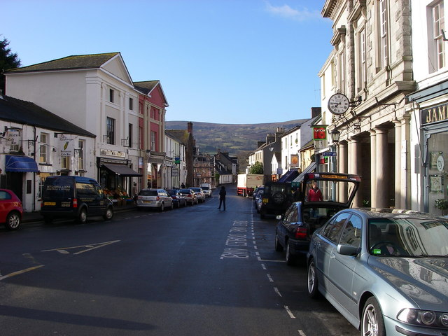 Crickhowell in the March sun