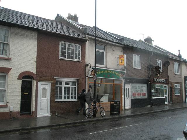 Fawcett Road in the rain