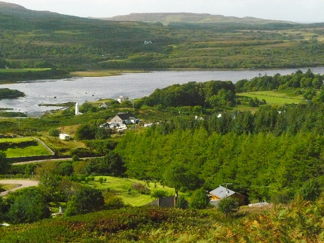 View of Dervaig from scenic overlook