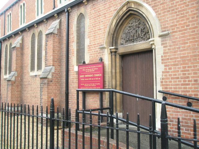 Entrance to St Swithin's Southsea