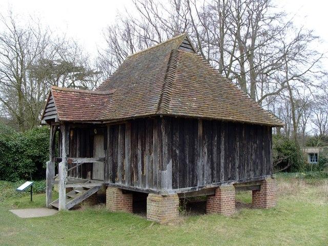Restored mediaeval granary, Wandlebury