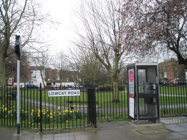 Phone box by Lowcay Park