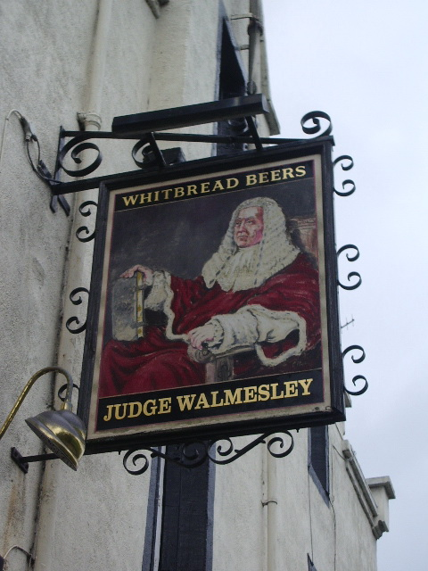 Judge Walmesley , Billington, Sign