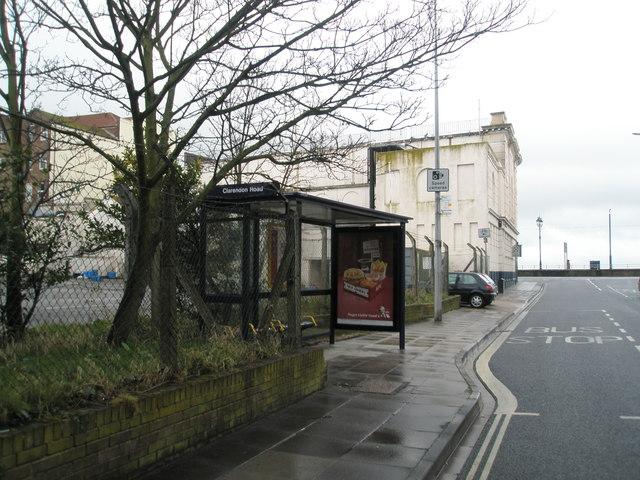 Bus stop in Clarendon Road