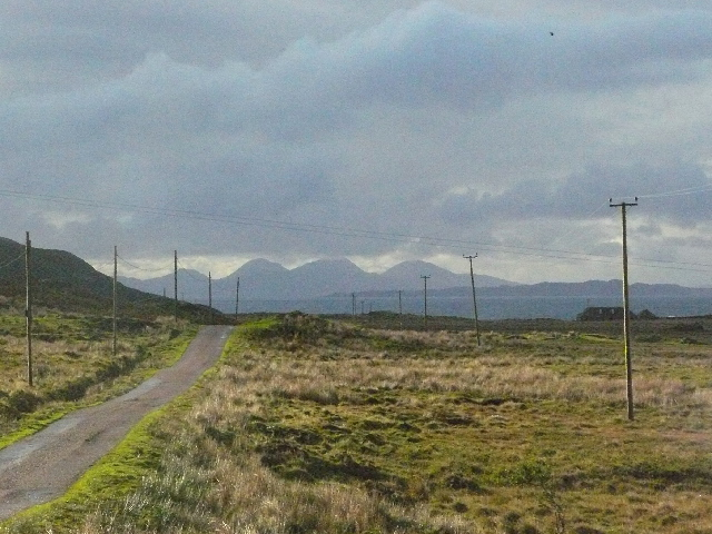 The Paps of Jura from the Uisken Road, Isle of Mull