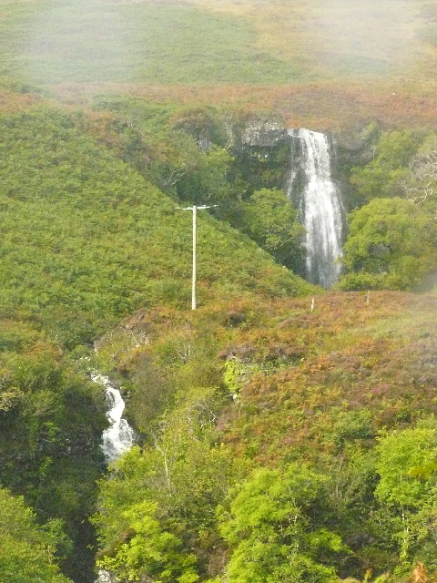 View of Waterfalls from Carsaig Road, Isle of Mull