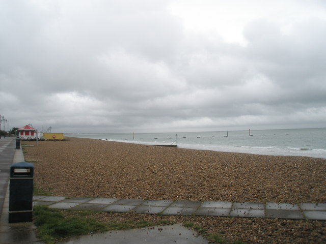 Southsea beach in (very) early Spring.