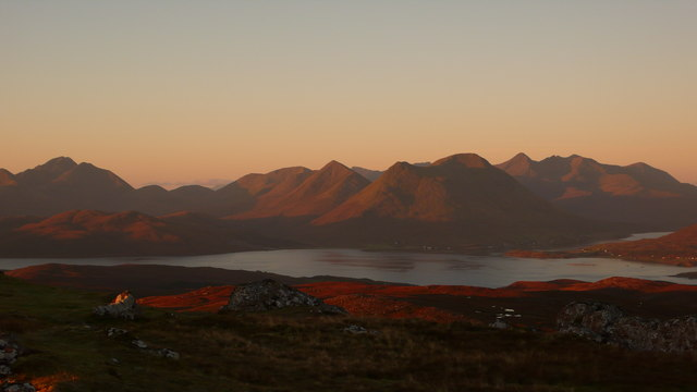 Glamaig and the Cuillin from Dun Caan