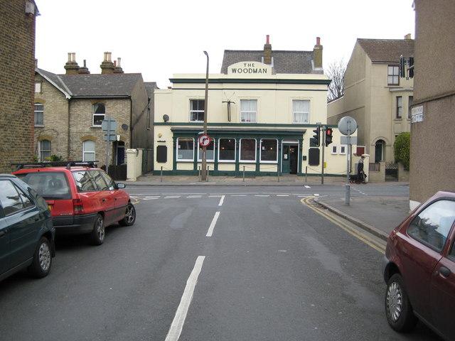 Dartford: The Woodman public house