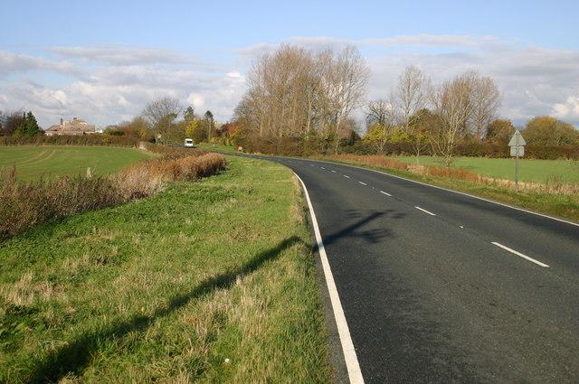 The B1040 heading into Bury