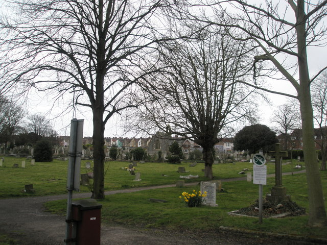 Distant chapel in Highlands Cemetery