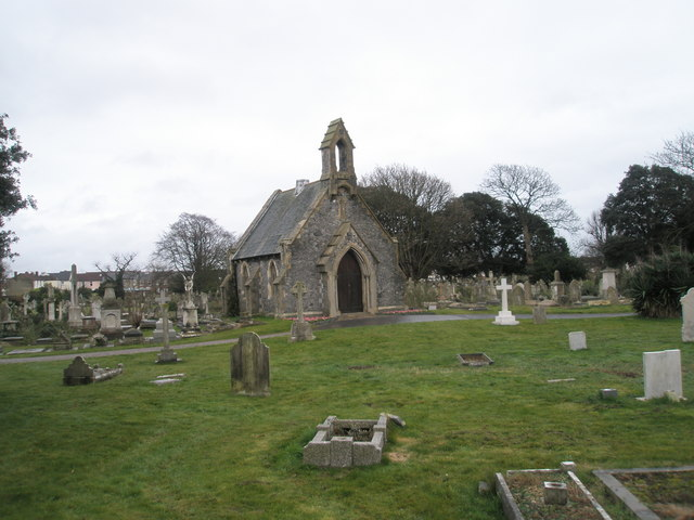 One of the Highland Road Cemetery chapels