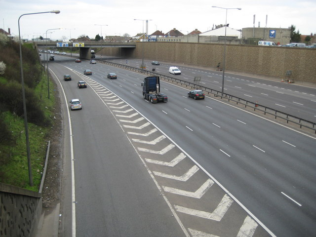 Dartford: A282 Dartford Tunnel Approach Road
