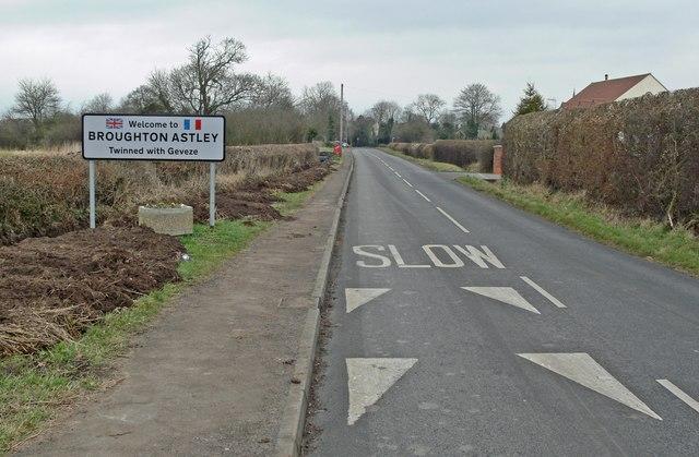 Frolesworth Road towards Broughton Astley