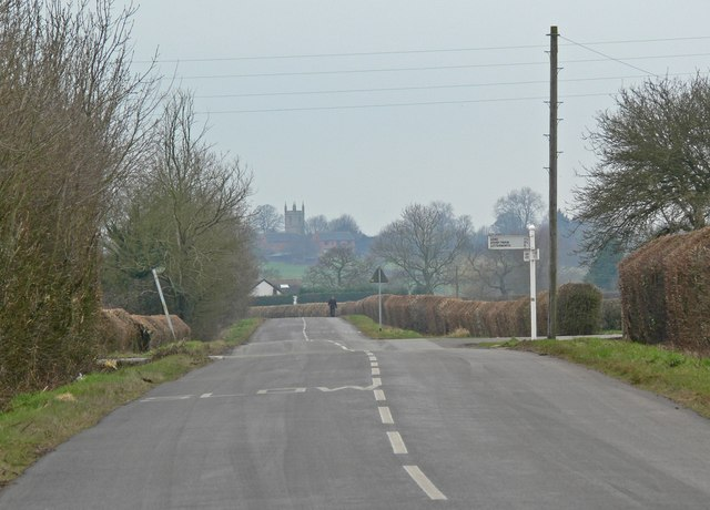 Frolesworth Road south of Broughton Astley