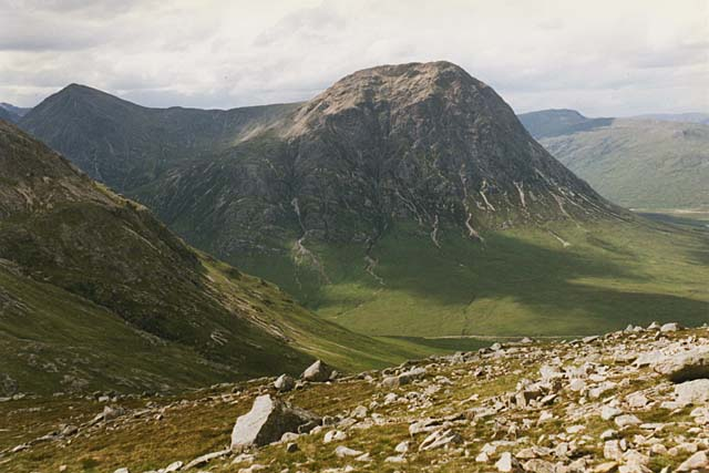 View towards the Buachaille Etive Mor from Creag Dhubh
