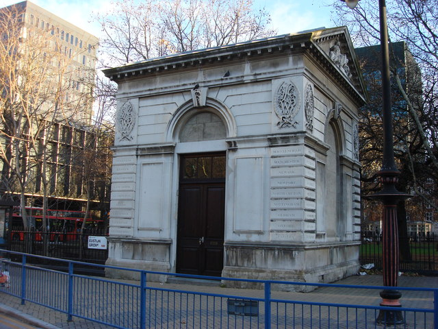 London and North Western Railway Portland stone entrance lodge (right)