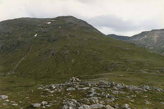 Meall a' Bhuiridh from the top of Creag Dhubh