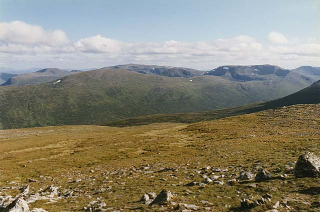 View towards Ben Alder from Geal Charn