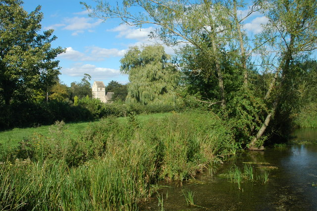 Eastleach Turville church from the river