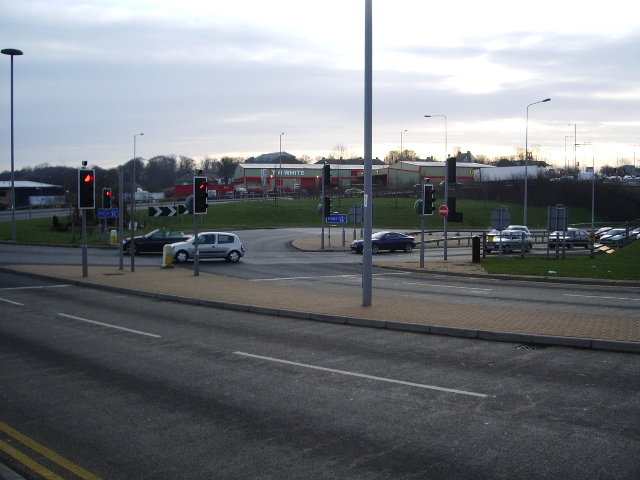Junction at the end of the M606