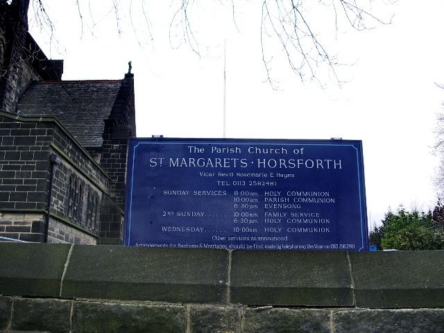 The Parish Church of St Margarets, Horsforth, Sign