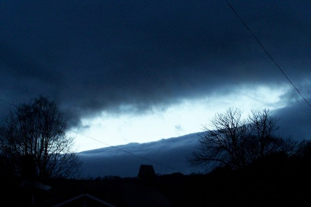 It was a 'dark and stormy night' ...