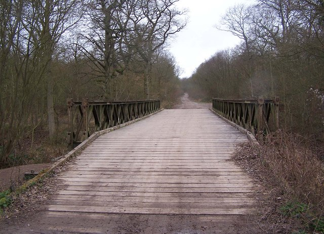 Bailey bridge and track, Ash Woods