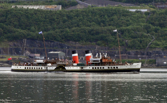 The Waverley passing Coulport Loch Long