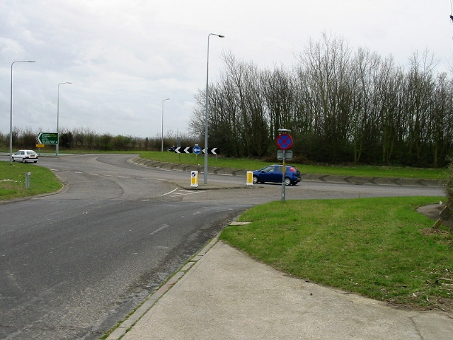 View of Monkton Roundabout from Seamark Road