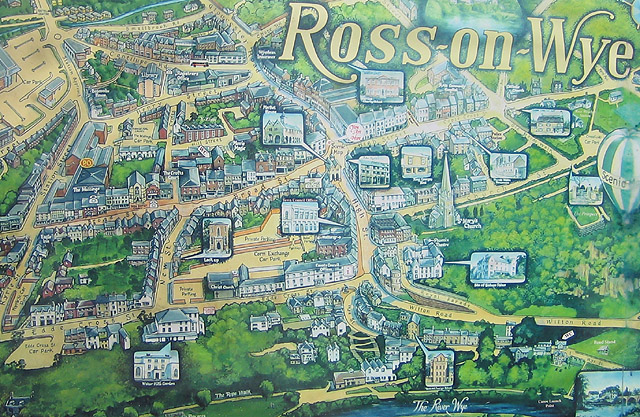 Tourist map of Ross-on-Wye