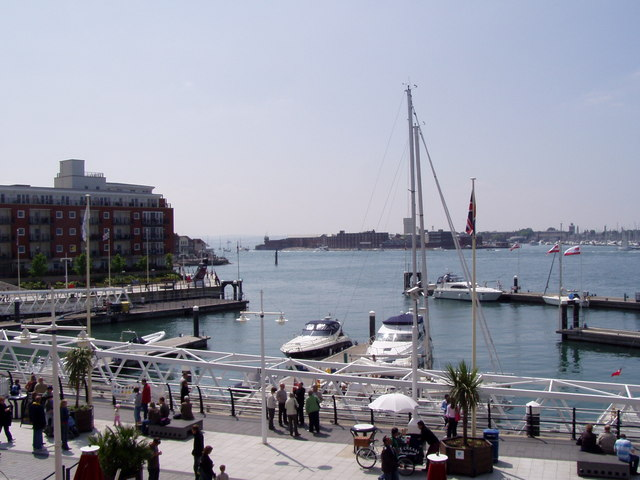 Haslar from Gunwharf Quays