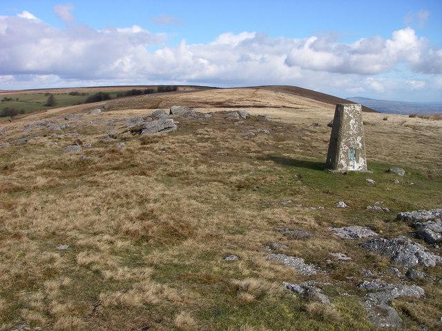 Trig point on Mynydd Garn-wen