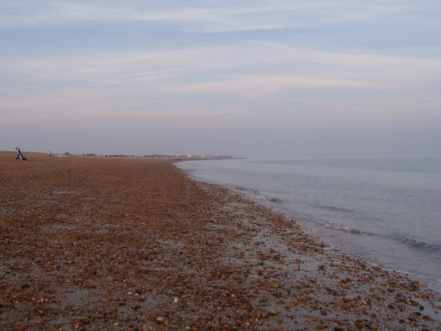 Hayling beach looking east from Funland