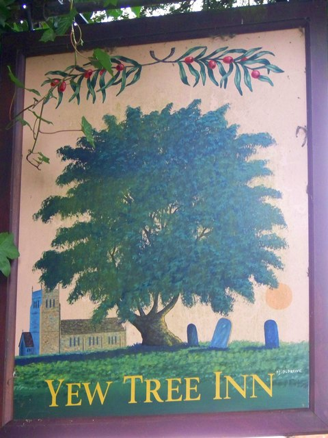 Sign for the Yew Tree, Odstock