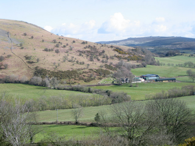 High view of Corndon Farm