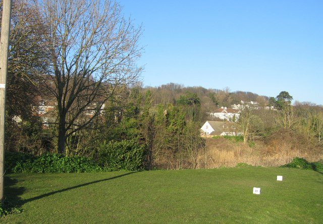 Looking inland from the 13th