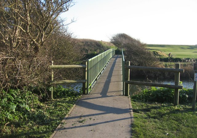 Canal footbridge