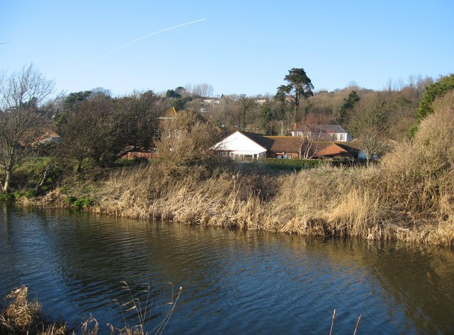 Housing backing on to the canal footpath