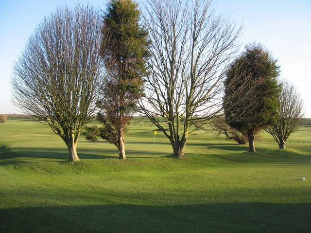 Golf course in the spring