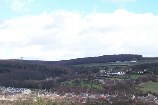 View over Oughtibridge towards the Rabok Works on Jawbone Hill