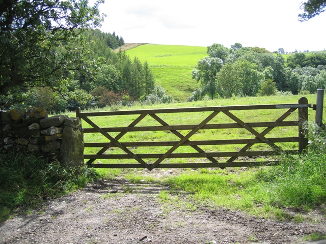Field gate and view towards Kirkby Beck