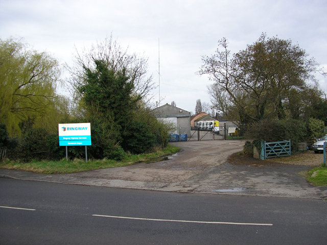 Entrance to a highway service depot, Ash Road, Sandwich, Kent