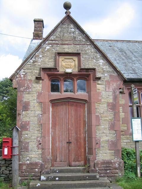 Entrance to Kirkby Malham Church Hall