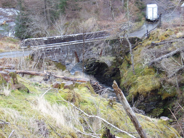 Old bridge over the Abhainn Garbhaig
