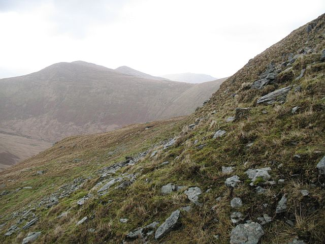 Steep ground on Beinn Chaorach