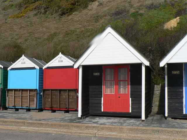 Southbourne: illogical beach-hut numbering