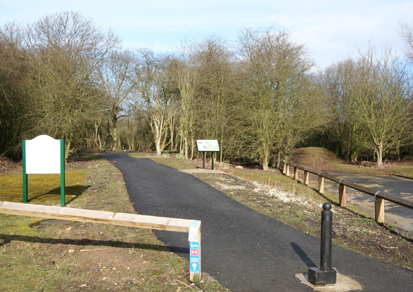 Sustrans route 66 cycle track