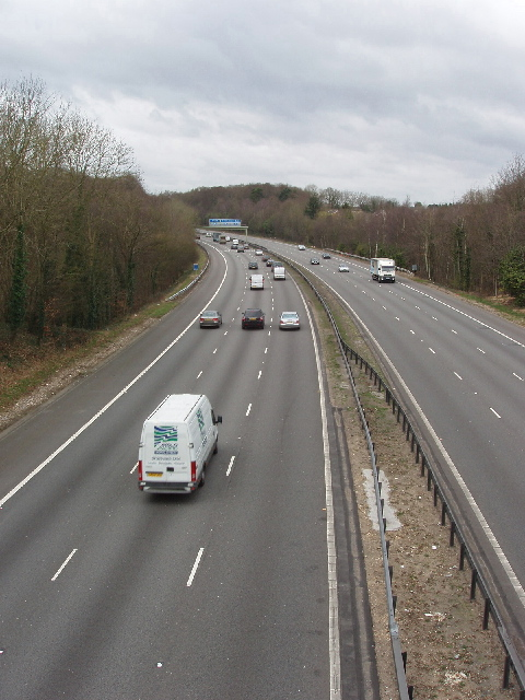 M40 Motorway from Daws Hill Lane